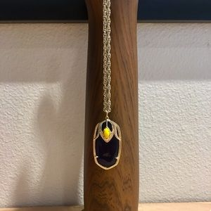 Kendra Scott Necklace - Blue/Yellow with Gold